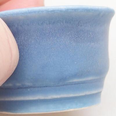 Mini miska bonsai 3,5 x 3,5 x 2 cm, kolor niebieski - 2