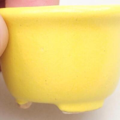 Mini miska bonsai 3,5 x 3,5 x 2,5 cm, kolor żółty - 2