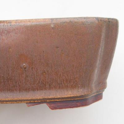 Ceramiczna miska bonsai 20,5 x 17,5 x 6 cm, kolor brązowy - 2