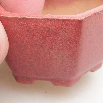 Mini miska bonsai 4 x 3,5 x 2 cm, kolor czerwony - 2