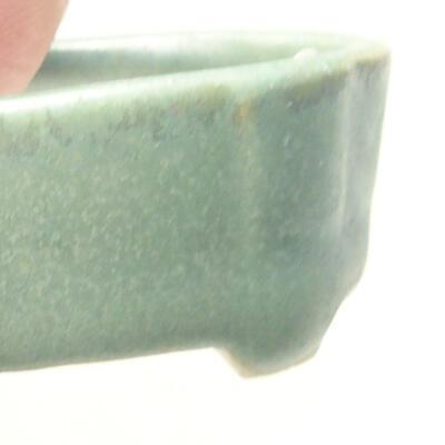 Mini miska bonsai 4 x 2,5 x 1,5 cm, kolor zielony - 2