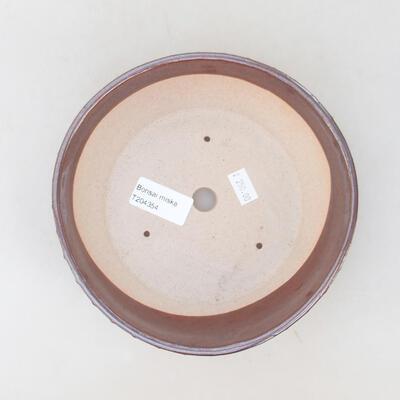 Ceramiczna miska bonsai 17,5 x 17,5 x 5 cm, kolor brązowy - 2