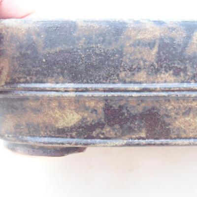 Ceramiczna miska bonsai 23,5 x 18 x 7 cm, kolor brązowo-szary - 2