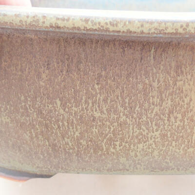 Ceramiczna miska bonsai 23 x 20 x 7 cm, kolor szary - 2