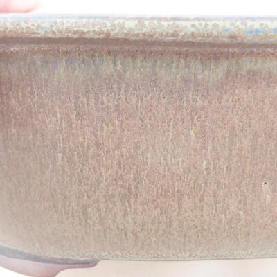 Ceramiczna miska bonsai 20,5 x 16,5 x 7 cm, kolor szary - 2
