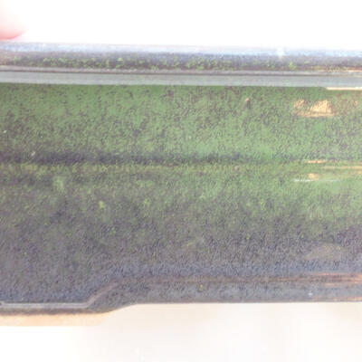 Ceramiczna miska bonsai 18 x 13 x 7 cm, kolor zielony - 2