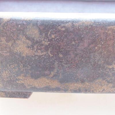 Ceramiczna miska bonsai 25 x 20 x 6 cm, kolor brązowy - 2