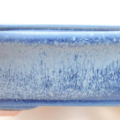 Ceramiczna miska bonsai 17 x 13,5 x 4,5 cm, kolor niebieski - 2