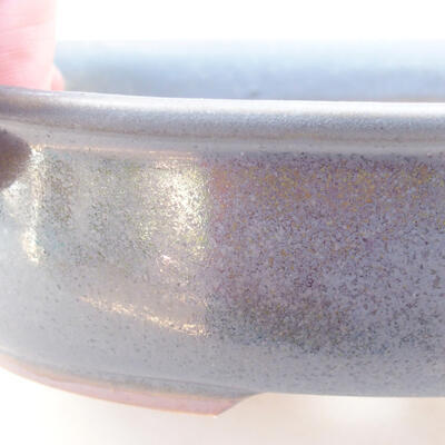Ceramiczna miska bonsai 18 x 14 x 4,5 cm, kolor szary - 2