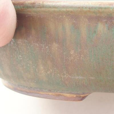 Ceramiczna miska bonsai 21 x 16,5 x 4,5 cm, kolor brązowo-zielony - 2