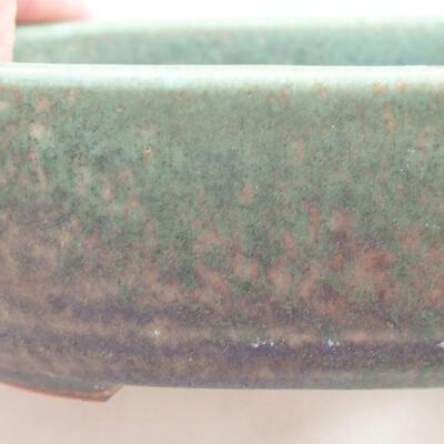 Ceramiczna miska bonsai 12,5 x 9 x 3,5 cm, kolor zielony - 2