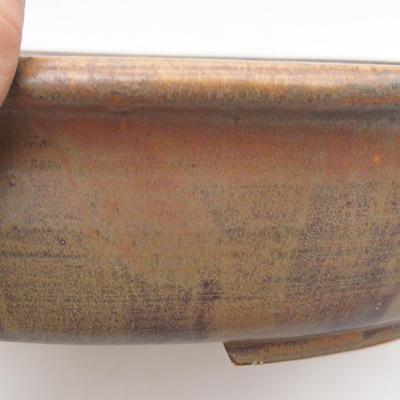 Ceramiczna miska bonsai 32 x 27,5 x 7,5 cm, kolor brązowy - 2