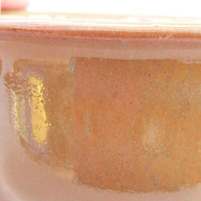 Ceramiczna miska bonsai 13 x 10,5 x 5 cm, kolor brązowy - 2