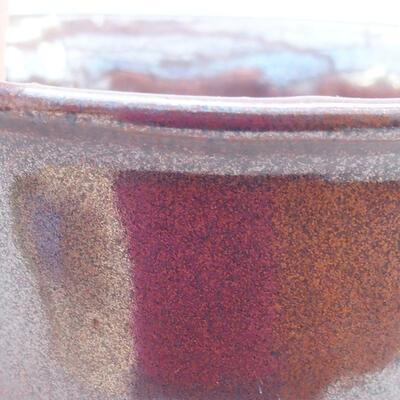 Ceramiczna miska bonsai 13 x 11 x 5,5 cm, kolor brązowy - 2