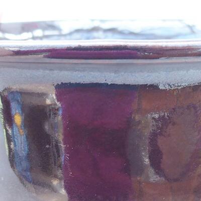 Ceramiczna miska bonsai 13 x 11 x 5,5 cm, kolor czarny - 2