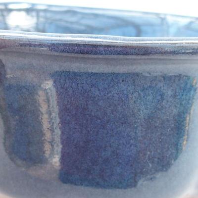 Ceramiczna miska bonsai 13 x 11 x 5,5 cm, kolor niebieski - 2