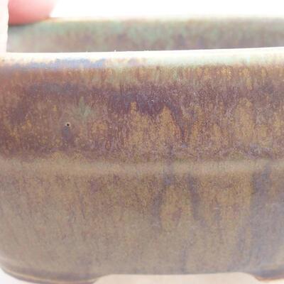 Ceramiczna miska bonsai 11,5 x 8 x 5 cm, kolor zielony - 2