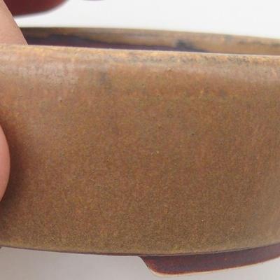 Ceramiczna miska bonsai 9,5 x 8,5 x 3,5 cm, kolor brązowy - 2