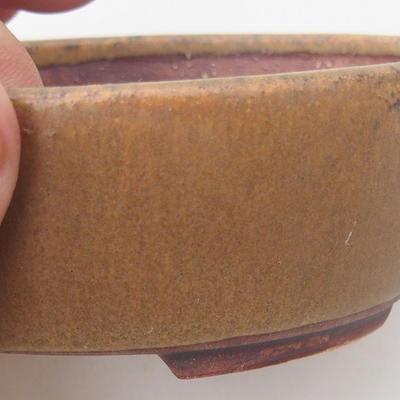 Ceramiczna miska bonsai 10 x 8,5 x 3,5 cm, kolor brązowy - 2