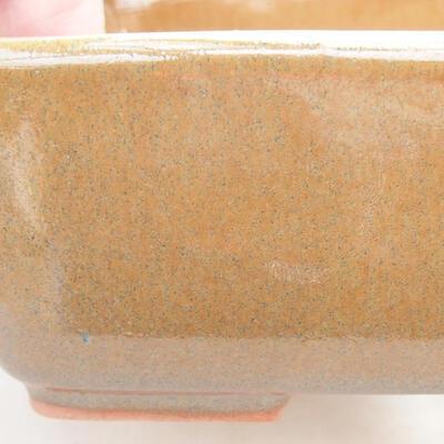 Ceramiczna miska bonsai 15 x 10,5 x 5 cm, kolor brązowy - 2