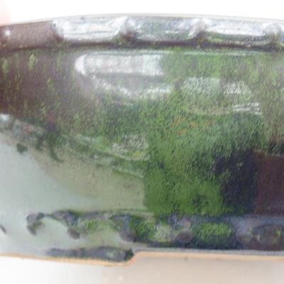 Ceramiczna miska bonsai 18 x 18 x 5 cm, kolor zielony - 2