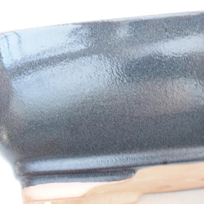 Ceramiczna miska bonsai 22 x 17 x 7 cm, kolor szary - 2