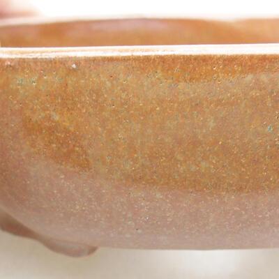 Ceramiczna miska bonsai 10 x 8,5 x 3 cm, kolor brązowy - 2