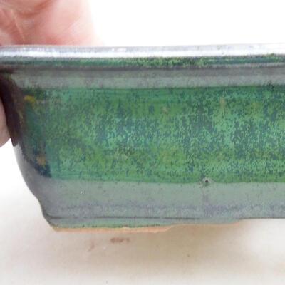 Ceramiczna miska bonsai 13,5 x 10 x 3,5 cm, kolor zielony - 2