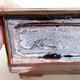 Ceramiczna miska bonsai 13 x 10 x 5 cm, kolor czarno-brązowy - 2/3