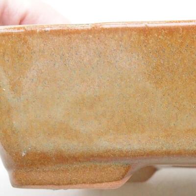 Ceramiczna miska bonsai 17,5 x 13 x 5 cm, kolor brązowy - 2