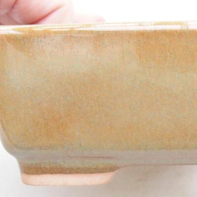 Ceramiczna miska bonsai 14,5 x 11 x 5 cm, kolor brązowy - 2