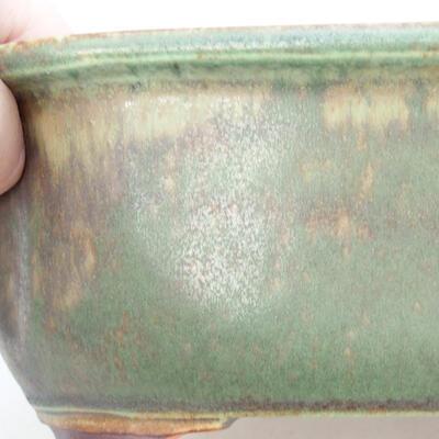 Ceramiczna miska bonsai 21,5 x 16,5 x 7 cm, kolor zielony - 2