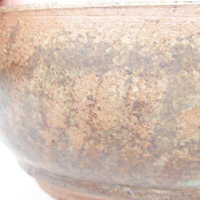 Ceramiczna miska bonsai 16 x 16 x 6,5 cm, kolor brązowy - 2