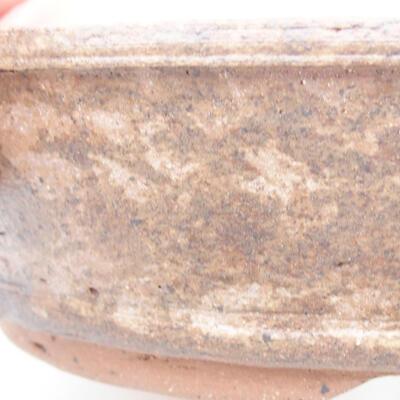 Ceramiczna miska bonsai 20 x 20 x 5 cm, kolor brązowy - 2