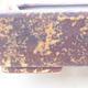 Ceramiczna miska bonsai 25 x 19,5 x 6,5 cm, kolor brązowo-żółty - 2/3