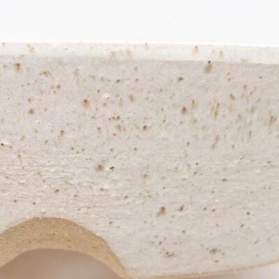Ceramiczna miska bonsai 20 x 20 x 5,5 cm, kolor beżowy - 2