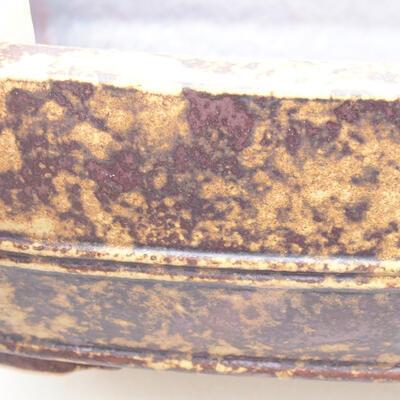 Ceramiczna miska bonsai 24 x 19 x 7 cm, kolor żółto-brązowy - 2