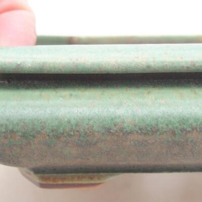 Ceramiczna miska bonsai 18 x 16 x 3,5 cm, kolor zielony - 2