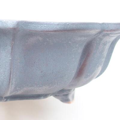 Ceramiczna miska bonsai 17 x 17 x 4,5 cm, kolor metalowy - 2