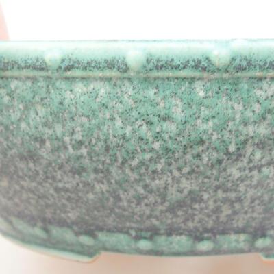 Ceramiczna miska bonsai 17 x 17 x 4,5 cm, kolor zielony - 2