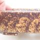 Ceramiczna miska bonsai 15 x 11,5 x 4 cm, kolor brązowo-żółty - 2/3