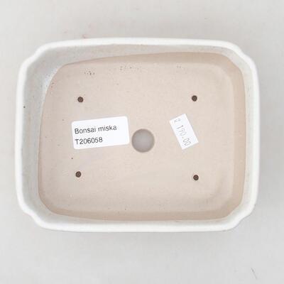 Ceramiczna miska bonsai 15 x 11,5 x 4 cm, kolor biały - 2