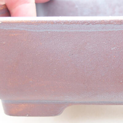 Ceramiczna miska bonsai 14,5 x 11,5 x 4,5 cm, kolor szary - 2