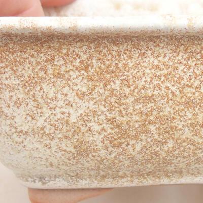 Ceramiczna miska bonsai 13 x 10 x 5 cm, kolor beżowy - 2