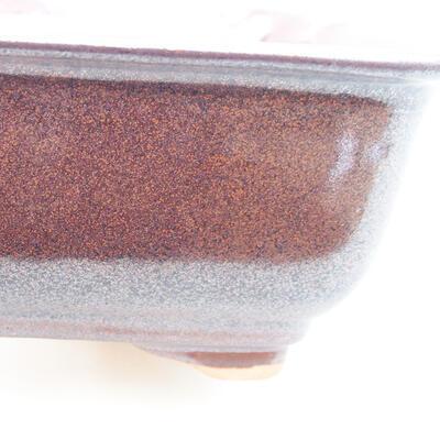 Ceramiczna miska bonsai 13 x 10 x 5 cm, kolor brązowy - 2