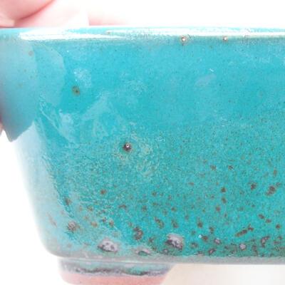 Ceramiczna miska bonsai 13 x 10 x 5,5 cm, kolor zielony - 2