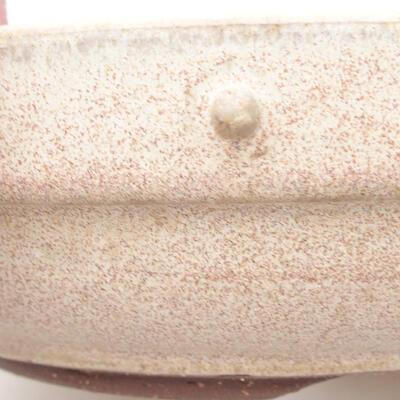 Ceramiczna miska bonsai 19,5 x 19,5 x 5,5 cm, kolor beżowy - 2