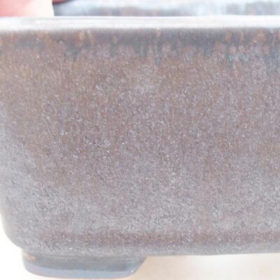 Ceramiczna miska bonsai 13 x 10 x 5,5 cm, kolor metalowy - 2