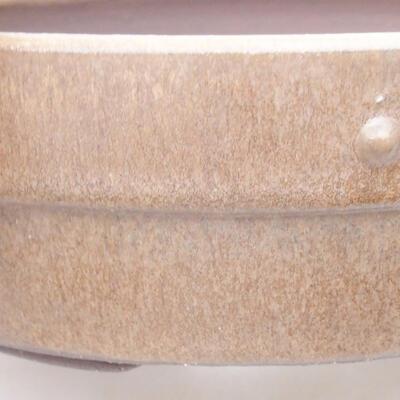 Ceramiczna miska bonsai 18 x 18 x 5,5 cm, kolor brązowy - 2