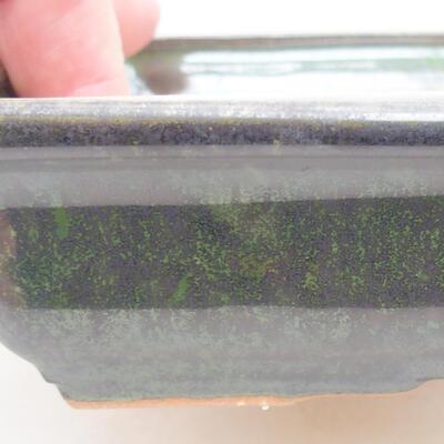 Ceramiczna miska bonsai 17 x 12,5 x 3,5 cm, kolor zielony - 2